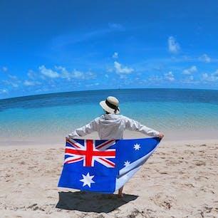 #グリーン島 #グレートバリアリーフ #オーストラリア  2020年1月  前日にナイトマーケットで買ったバスタオルが 思いがけず、良い仕事をしてくれた1枚😆😆笑
