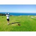 南アフリカ、ジョージでのゴルフ!海に向かってティーショット!!! (2015年)