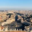 ヴァチカン🇻🇦 サン・ピエトロ広場  サン・ピエトロ大聖堂のクーポラからしか見られない景色です✨