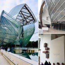 フランス パリ ブローニュの森 Fondation Louis Vuitton ルイヴィトン美術館 展示内容以上に惹きつけられる、建築とレストラン