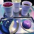 CAFE TAPE  梨泰院 宇宙ケーキ🌏 食べたのは、 ゆずクリームチーズ、 イチゴクリームチーズ🍰