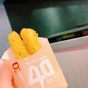 金海国際空港にある【ロッテリア】  チーズスティックのサイズ感がいいです☺️