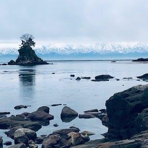 2020年1月 雨晴海岸から見た立山連峰