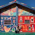 彩虹眷村🌈🏠  台中にある「虹の村」と言われている場所。 たった1人のおじいさんが絵を描いたそう😳✨ 色んな絵がありとても楽しい場所です!