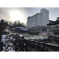 """@群馬県草津町  Kusatsu town,Gunma pref.  草津温泉湯畑 #草津温泉 #湯畑 """"Yubatake""""  (2020/01/16)"""