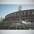 """@東京都新宿区 Shinjuku, Tokyo metro.  """"新""""国立競技場 New National Stadium  今後様々な東京の姿を見守るでしょう。  (2019/12/28)"""