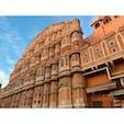 2020年1月24日 #インド #ハワーマハル 観光雑誌でみてたとこ ☻ 街に突然現る!