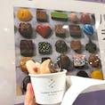 阪急 梅田 バレンタインチョコ売り場 PIERRE MARCOLINI キャラメルショコラ味のソフトクリームは 濃い味で 美味しかった🍫