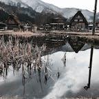 岐阜県 白川郷  雪がない…