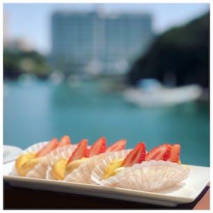 和歌山 白浜 ~かげろうカフェ~ 海を眺めながら食べる生かげろうは、最高です.*・゚  #かげろうカフェ #かげろう #Cafe #海 #白浜 #和歌山