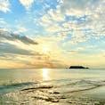 七里ヶ浜  夕焼け小焼けの七里ヶ浜 江ノ島も見えますよ〜♪