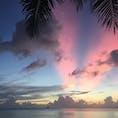 サイパン*ガラパン  ホテルの前のビーチから。 毎日sunsetがきれいで感動した。