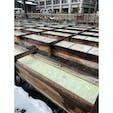 草津温泉 湯畑  雪が降り積もる2月(*´∇`*) 氷点下の寒空の下、酸性湯のあったかい湯が染み渡ります〜