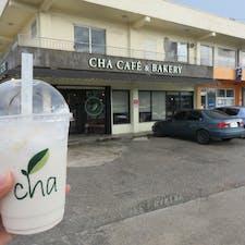 サイパン*cha cafe bakery  おしゃれカフェ。 朝食に利用したら甘々だった。クロワッサンをいただきました🥐
