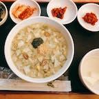 Congee House 明洞1号店 優しい お味の特アワビ粥。