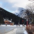 冬のバンフ 山が凄くかっこいい…