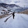 青森県奥津軽 竜飛岬 本州最北端の真冬はどんな感じかと…行って来ましたが、やはり暖冬で雪が少ないとの事☃️ 津軽海峡冬景色♪の歌碑があり、ボタンを押すと曲が流れたりして、良い雰囲気でした😊