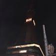 北海道、札幌のさっぽろテレビ塔。北海道胆振東部地震の後だったので節電中。