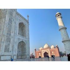 2020年1月25日 #インド #タージマハル 左右にモスクがある ☺︎ タージマハルだけ!