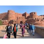 2020年1月25日 #インド #アグラ城 半日サリーを着たまま観光 ☺︎