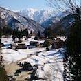 五箇山の合掌造り。2017年3月。