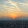 北展望室からの夕日