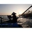 🇻🇳 Mekong river 3時発の寝台バスでホーチミン→カントーへ。 朝日をバックに水上マーケットへ。 早起きの価値アリ。