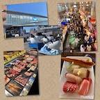 下関出張の折、寄ってみた「唐戸市場」 場内は寿司バイキングで大賑わいでした。