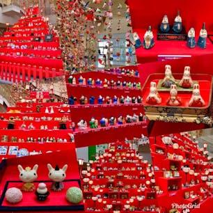 地元のお雛祭りで恒例の「雛ピッド」 ハートマークに並んだぼんぼり、はじめは気づきませんでした。