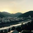 2019/11/17 水明館の部屋から見える朝の風景。 #下呂温泉 #水明館