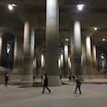 龍Q館 首都圏外郭放水路地下探検ミュージアム 洪水から私達を守ってくれる地下神殿です。
