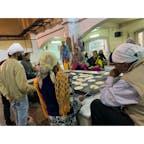 2020年1月25日 #インド ジャパティを作っている ☺︎ ボランティアの人たち ☻