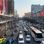 #バンコク #タイ 2020年2月  この交通量を見るとバンコクに来たな〜と感じる😆😆