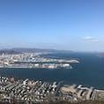 香川県、屋島から見た高松港