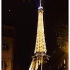 夜のエッフェル塔はとてもエレガント💐 そのあとシャンパンフラッシュも見れて幸せだった。ありがとう!  #thosedayswithyou #paris #france