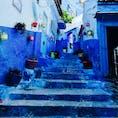 青い街 in モロッコは本当に青い!