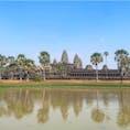 #アンコールワット #シェムリアップ #カンボジア 2020年2月  念願の逆さアンコールワット✨  お堀だと思ったらまさかの水溜まりだったけど、 暑すぎて干上がってただけかな😳😳?笑
