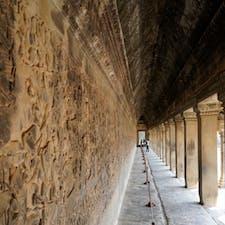 #アンコールワット #シェムリアップ #カンボジア 2020年2月  第一回廊には壁画がズラリ😳😳 ラーマーヤナ、天国と地獄、乳海攪拌がおすすめ👍