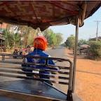 #シェムリアップ #カンボジア 2020年2月  トゥクトゥク🛺をチャーターして観光! 3人乗りで1日乗り回して20$とかだから利用すべき😆😆
