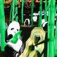 【千葉】東京ドイツ村 たくさんのパンダ 手が動いていたり、子パンダがいたりして、ずっと見ていても飽きない #東京ドイツ村 #イルミネーション #パンダ