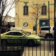 New York / Brooklyn Williamsburg ブルックリンやクイーンズを走る、アップルグリーン色のタクシー「Boro Taxi」。マンハッタンではなかなか見かけないかも?! #newyork #brooklyn
