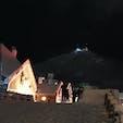【2018・師走】 北海道南部にて夜空にうっすらな函館山を嗜む。