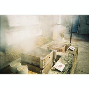 鹿児島 指宿 砂蒸し風呂砂湯里 蒸し野菜最高すぎた。