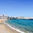 ギリシャ ミコノスタウンの浜辺