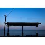 愛媛県 〜下灘駅〜 朝焼けの無人な時に撮りに行きました。