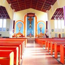 ハガニア大聖堂   グアムではじめてカトリック教会として作られた神秘的な空間。