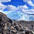 南米パタゴニア💎  迫りくる迫力満点💯の 世界最古の氷河は青く輝き美しいの一言でした。            過去picより