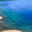 秋田県 田沢湖 日本一深い湖だそうです! 沖縄かと思うくらいの青くて透き通った湖に感動しました😳 夏のお天気がいい日で気持ちよかった🚗