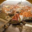 チェコ、南にあるチェスキークルムロフ。宝石箱みたいな街の景色。