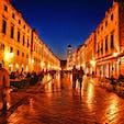 クロアチア、ドブロブニクの旧市街。